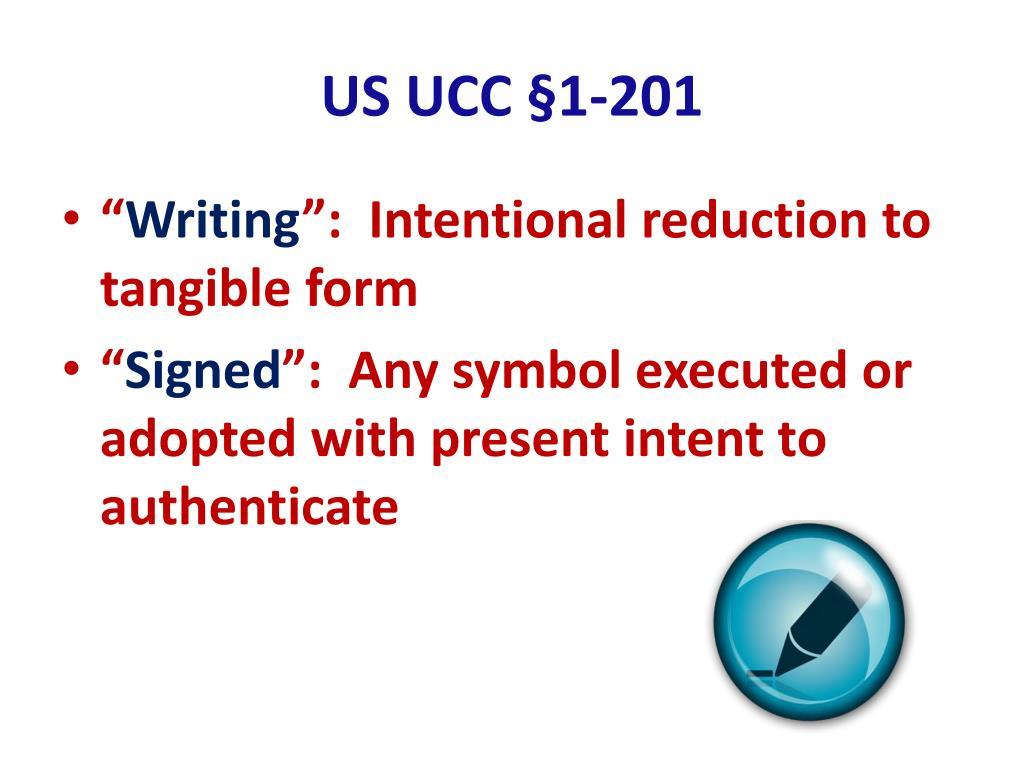 US UCC §1-201