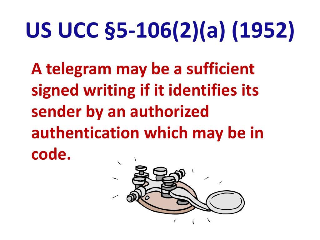 US UCC §5-106(2)(a) (1952)