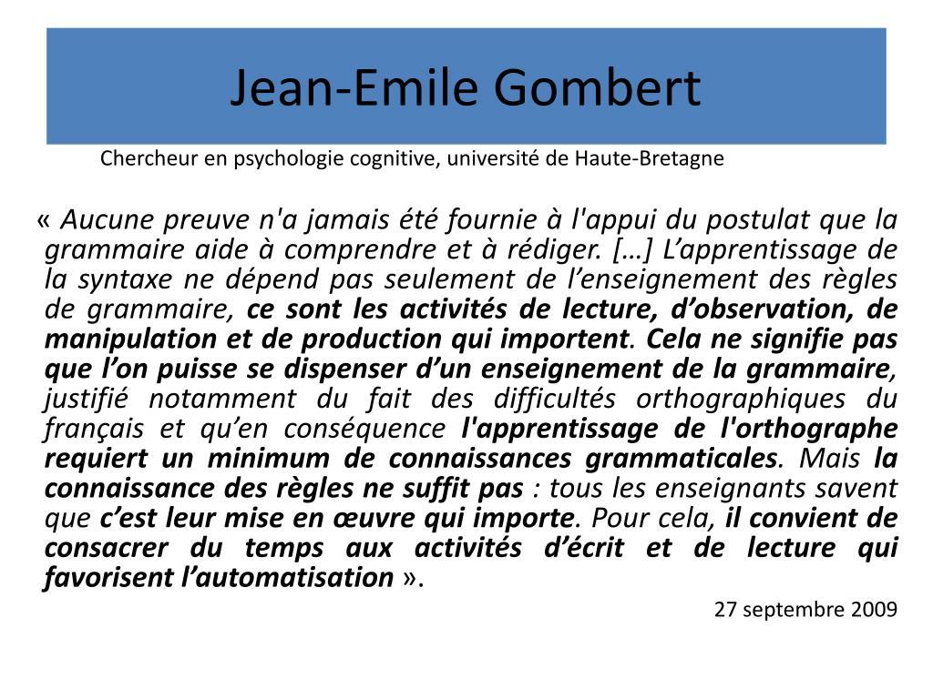 Jean-Emile Gombert