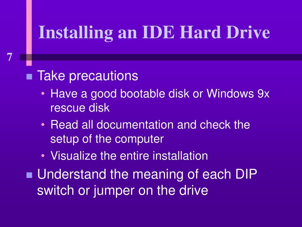 Installing an IDE Hard Drive