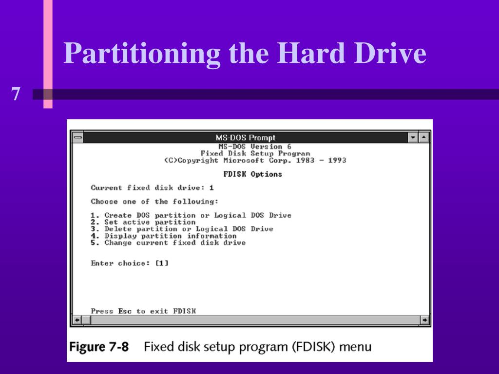 Partitioning the Hard Drive