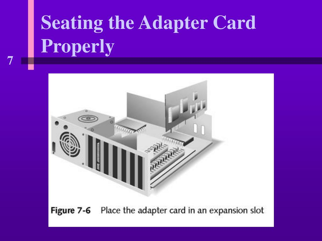 Seating the Adapter Card Properly