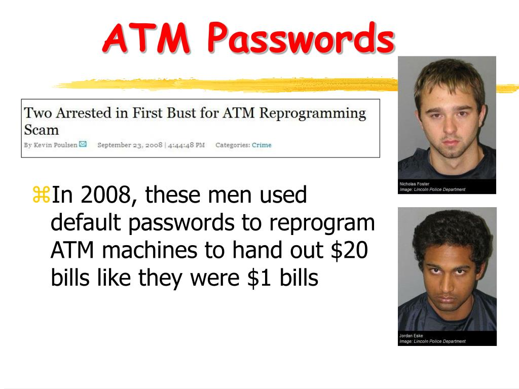ATM Passwords