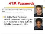 atm passwords