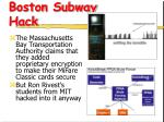 boston subway hack