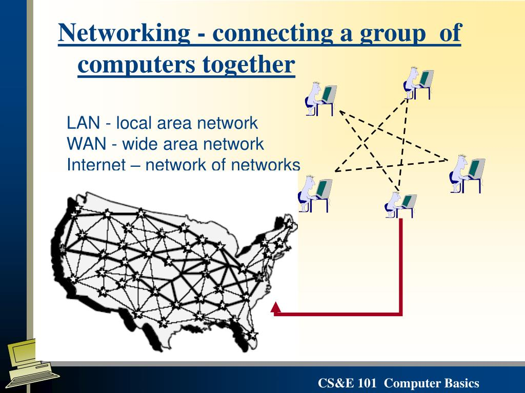 Networking - connecting a group  of computers together