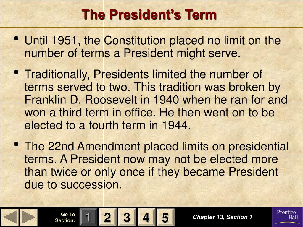 an introduction to the two term presidential term limit provided by the 22nd amendment