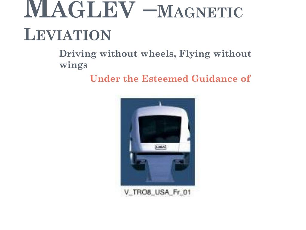 maglev magnetic fields Predicting magnetic field distribution and levitation force in three configurations of  high temperature superconducting (htsc) maglev vehicles.