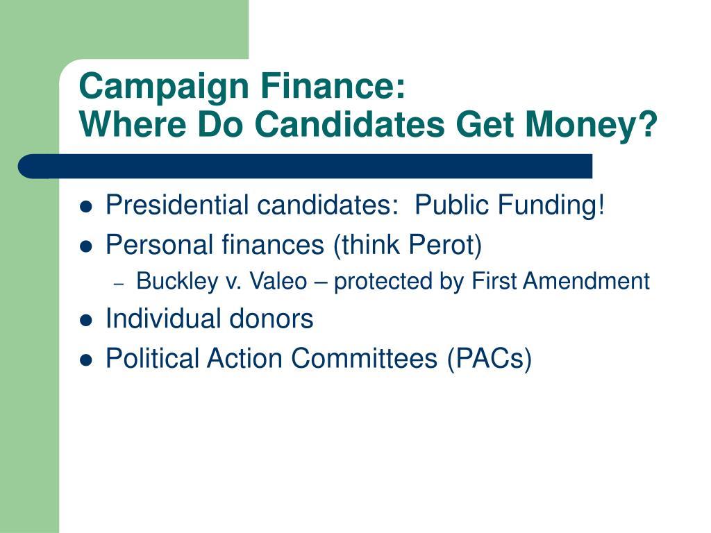 Campaign Finance: