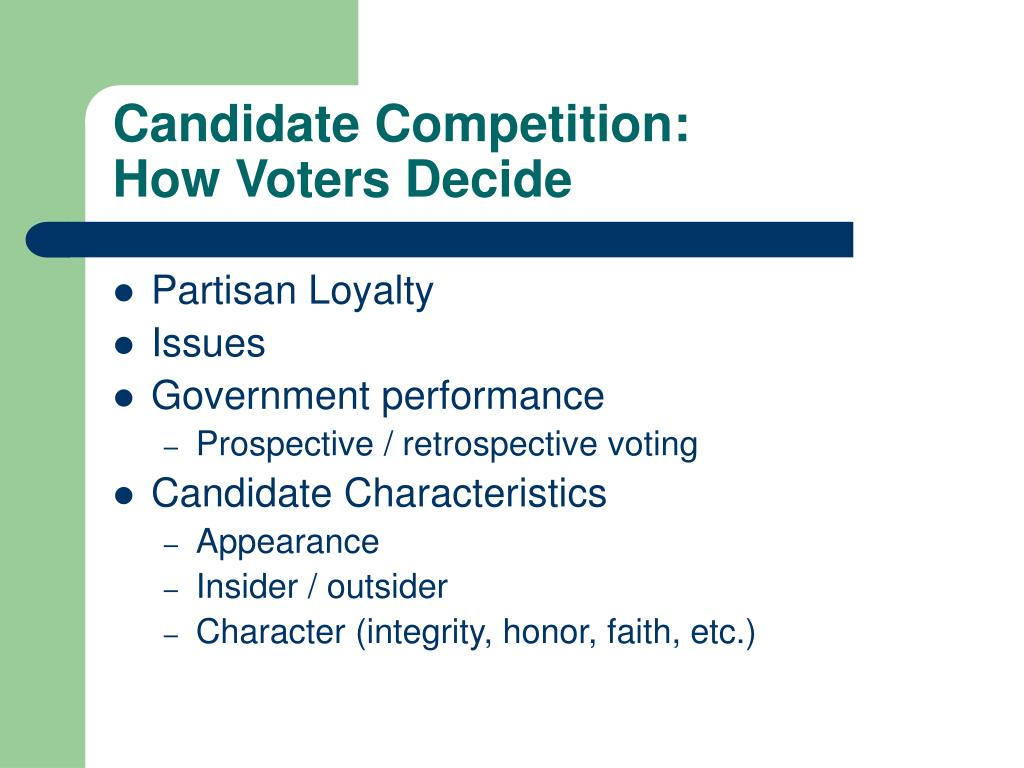 Candidate Competition: