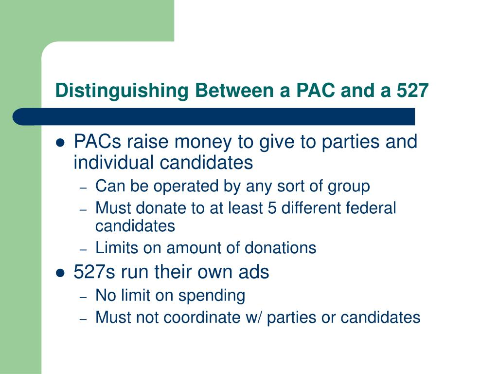 Distinguishing Between a PAC and a 527