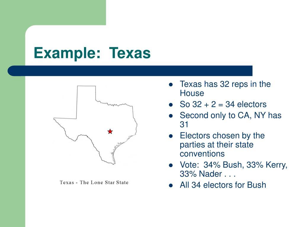 Example:  Texas