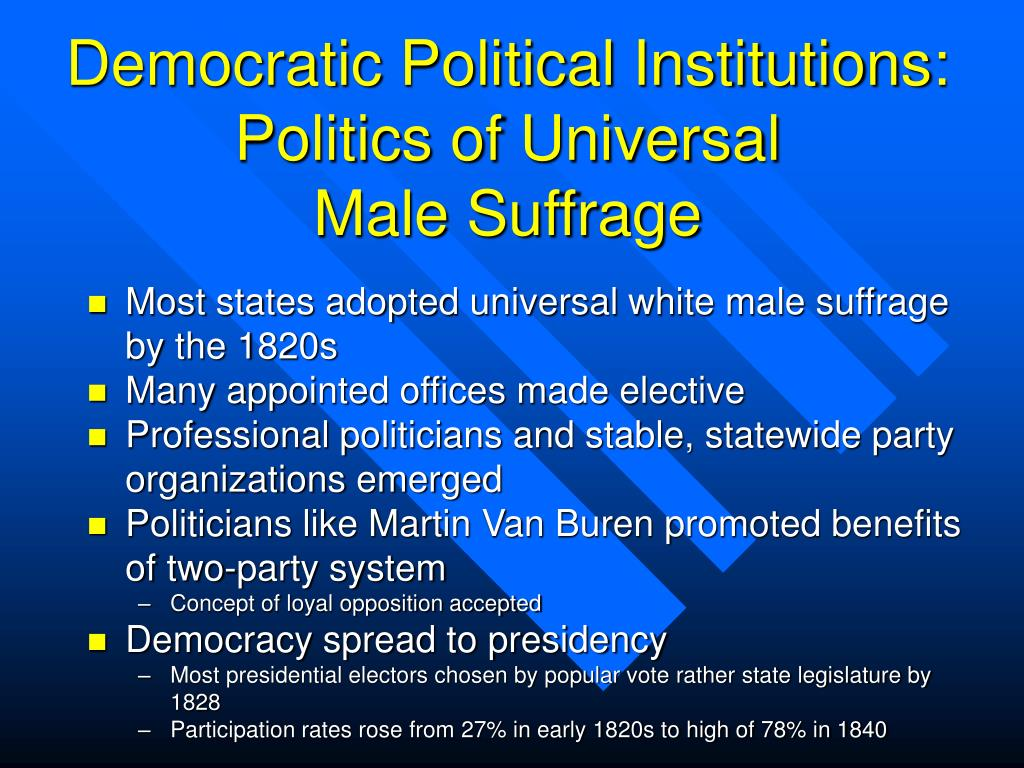 Democratic Political Institutions: Politics of Universal
