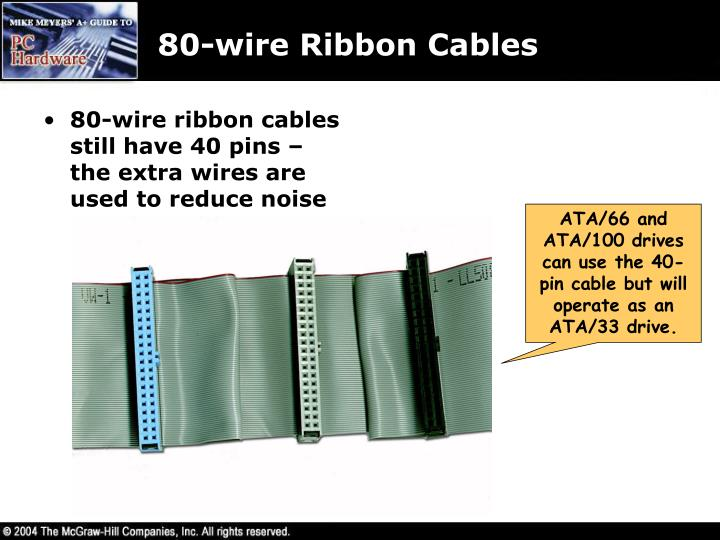 80-wire Ribbon Cables