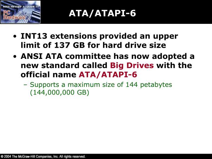 ATA/ATAPI-6