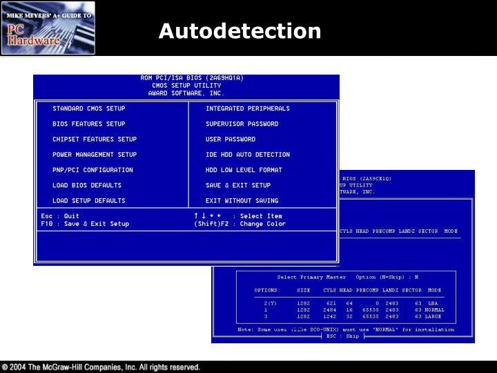 Autodetection