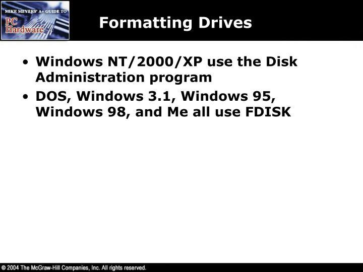 Formatting Drives
