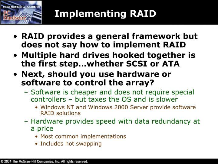 Implementing RAID