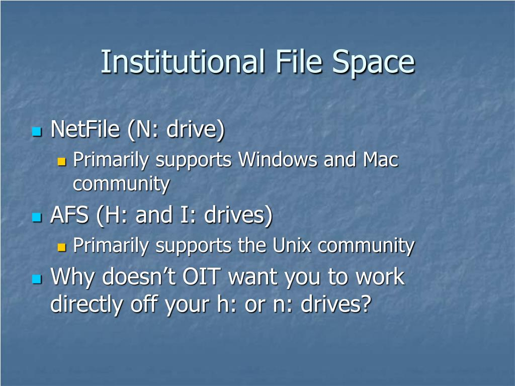 Institutional File Space
