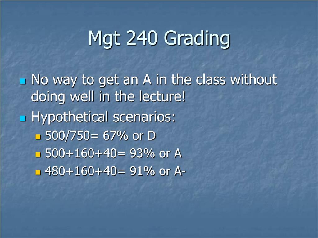 Mgt 240 Grading
