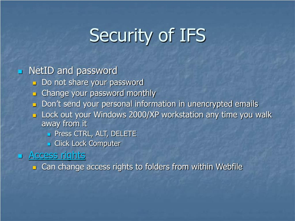 Security of IFS