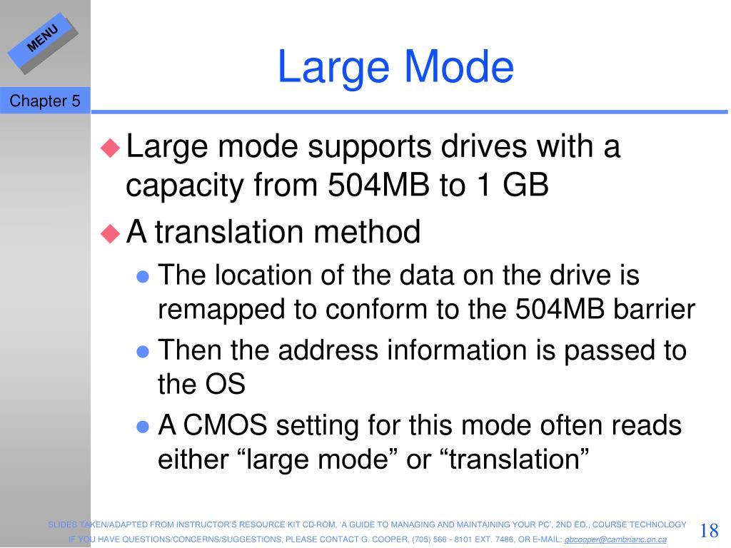 Large Mode