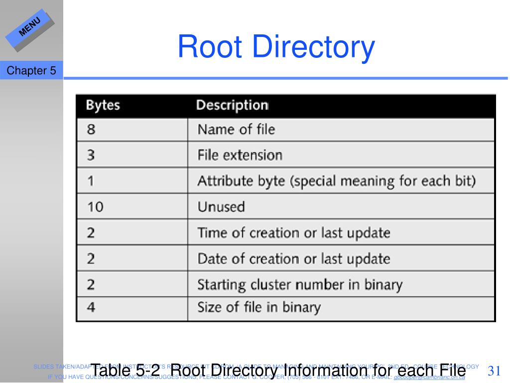 Root Directory