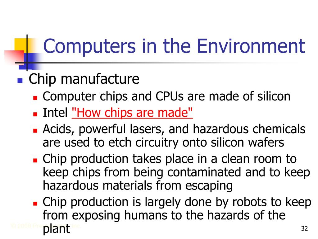 Computers in the Environment
