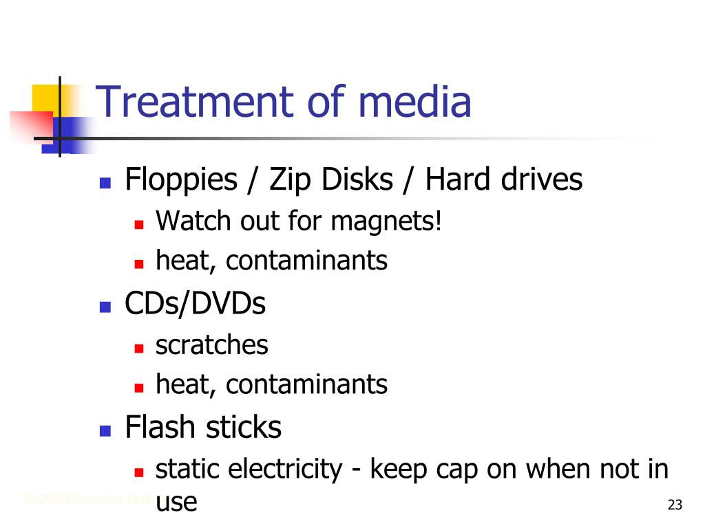 Treatment of media