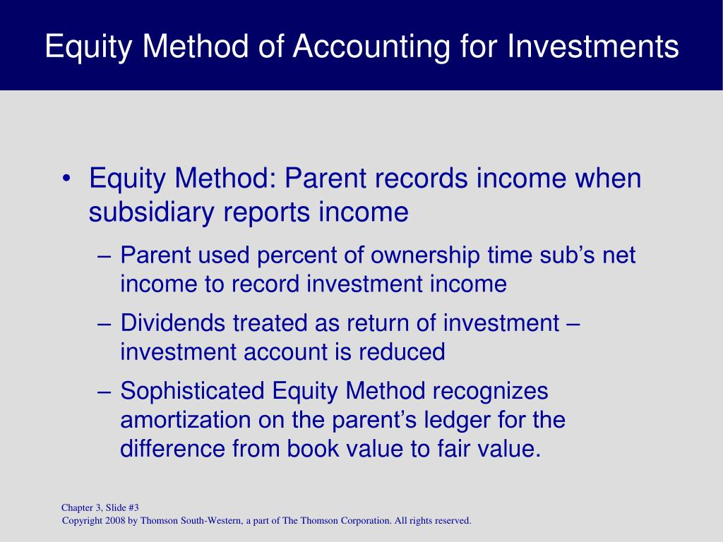 the equity method of accounting for