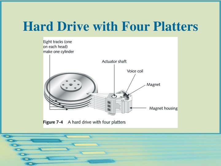 Hard Drive with Four Platters