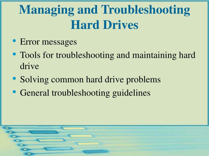 Managing and Troubleshooting Hard Drives