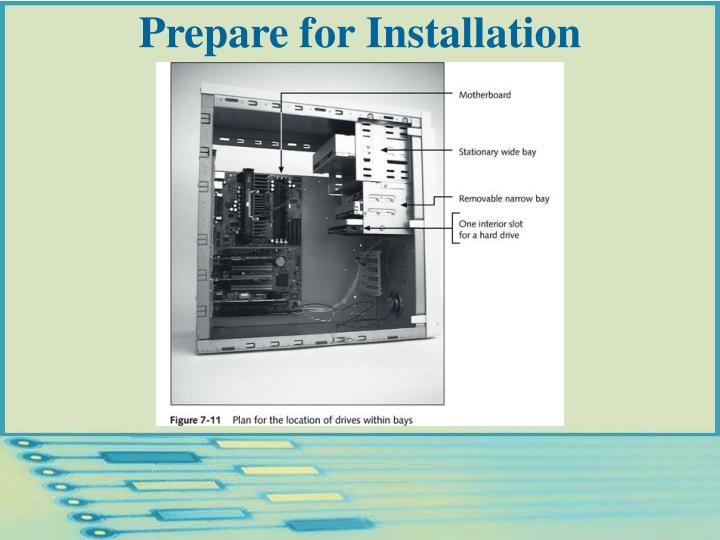 Prepare for Installation
