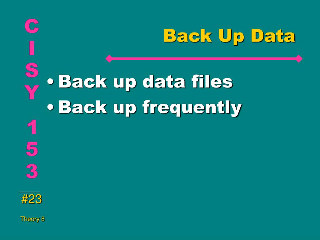Back Up Data