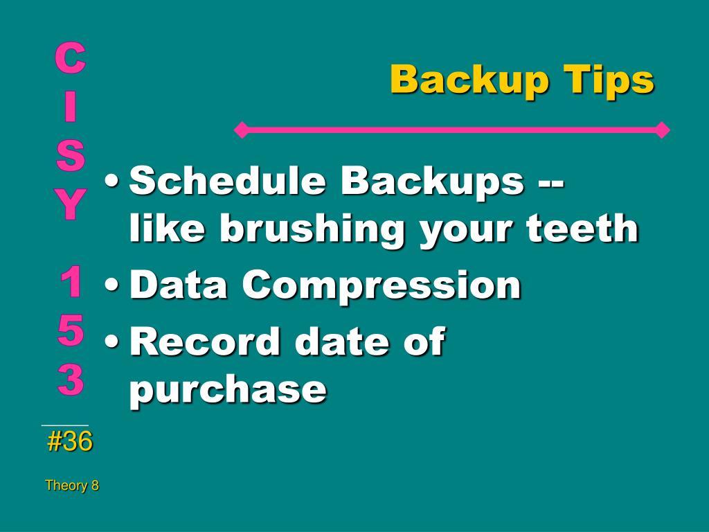 Backup Tips