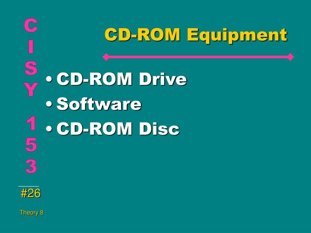 CD-ROM Equipment