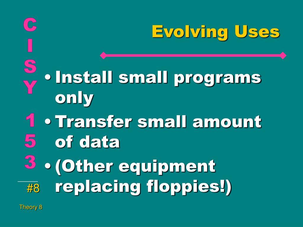 Evolving Uses