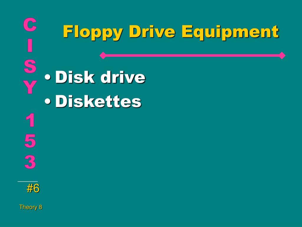Floppy Drive Equipment