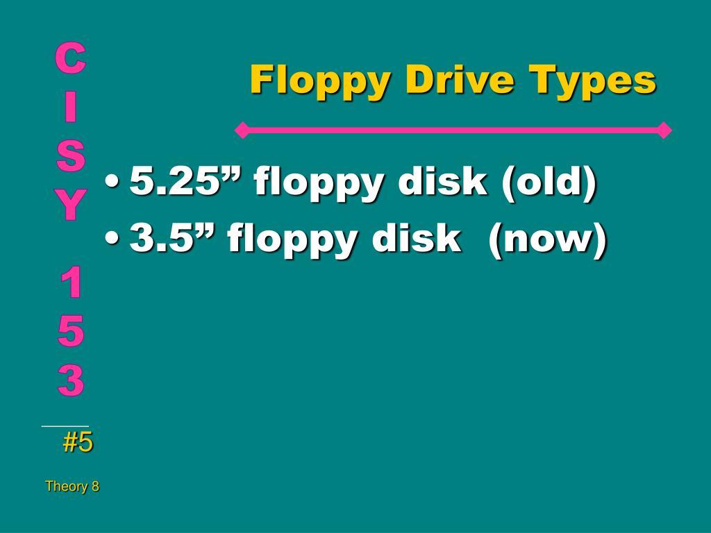 Floppy Drive Types