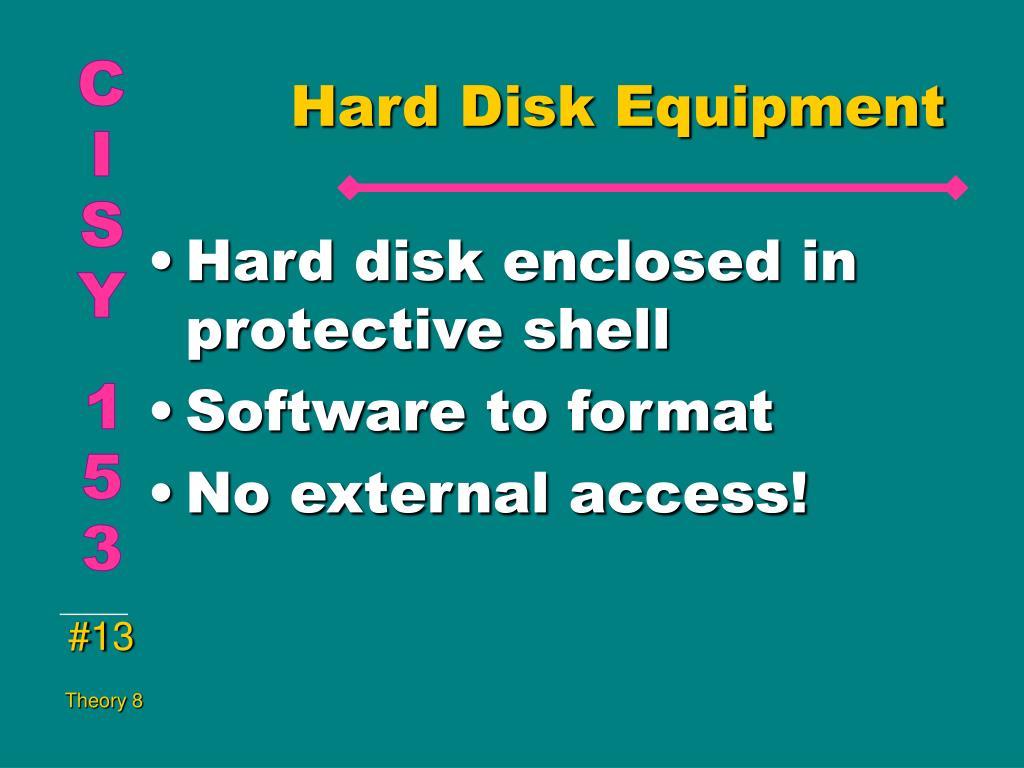 Hard Disk Equipment