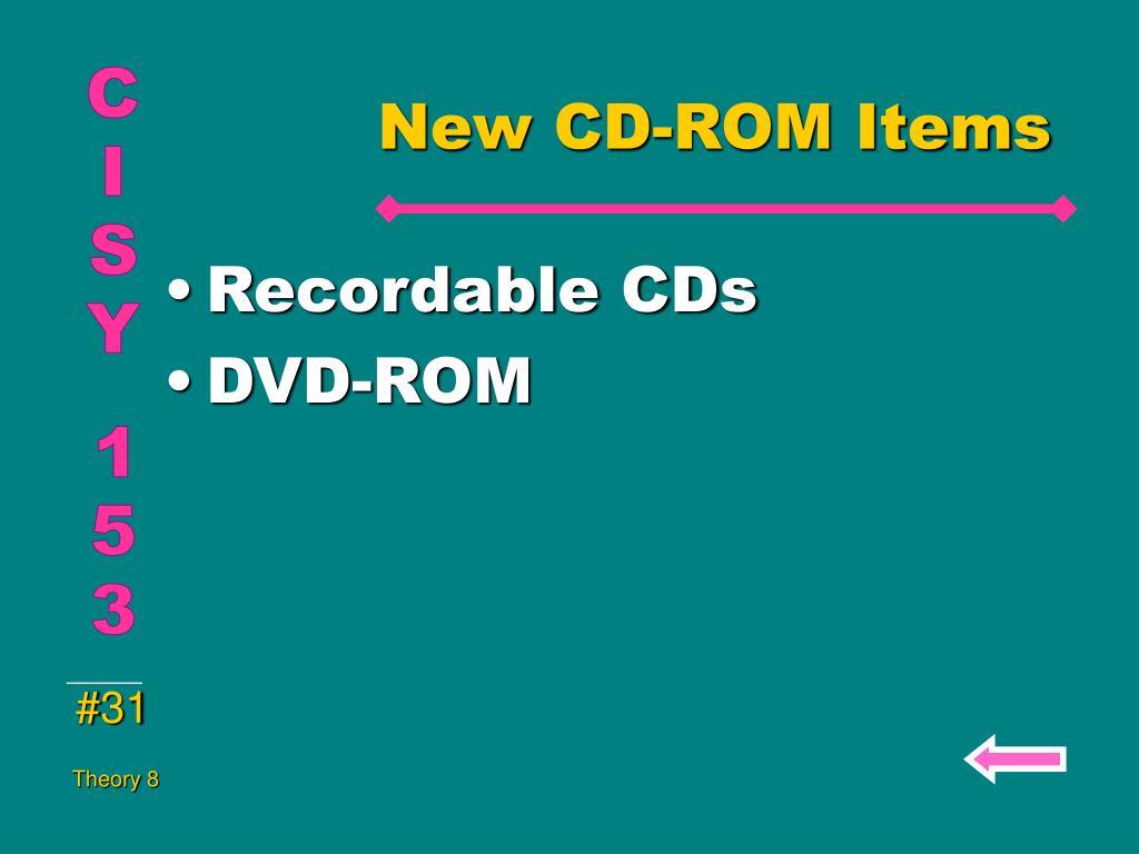 New CD-ROM Items