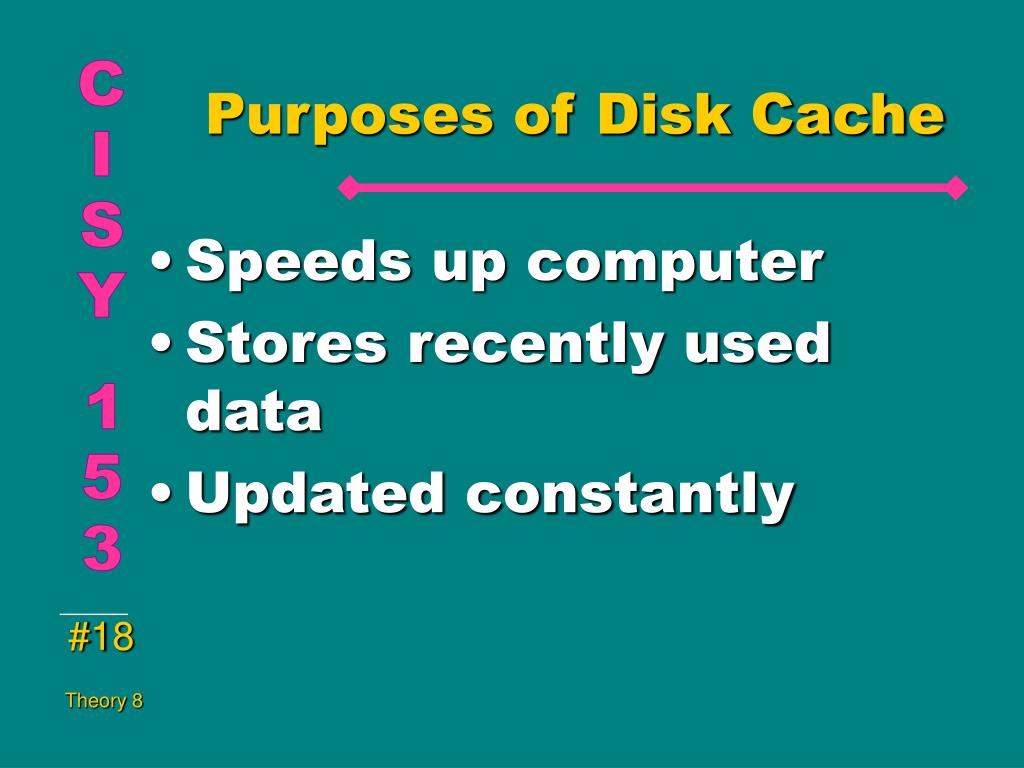 Purposes of Disk Cache