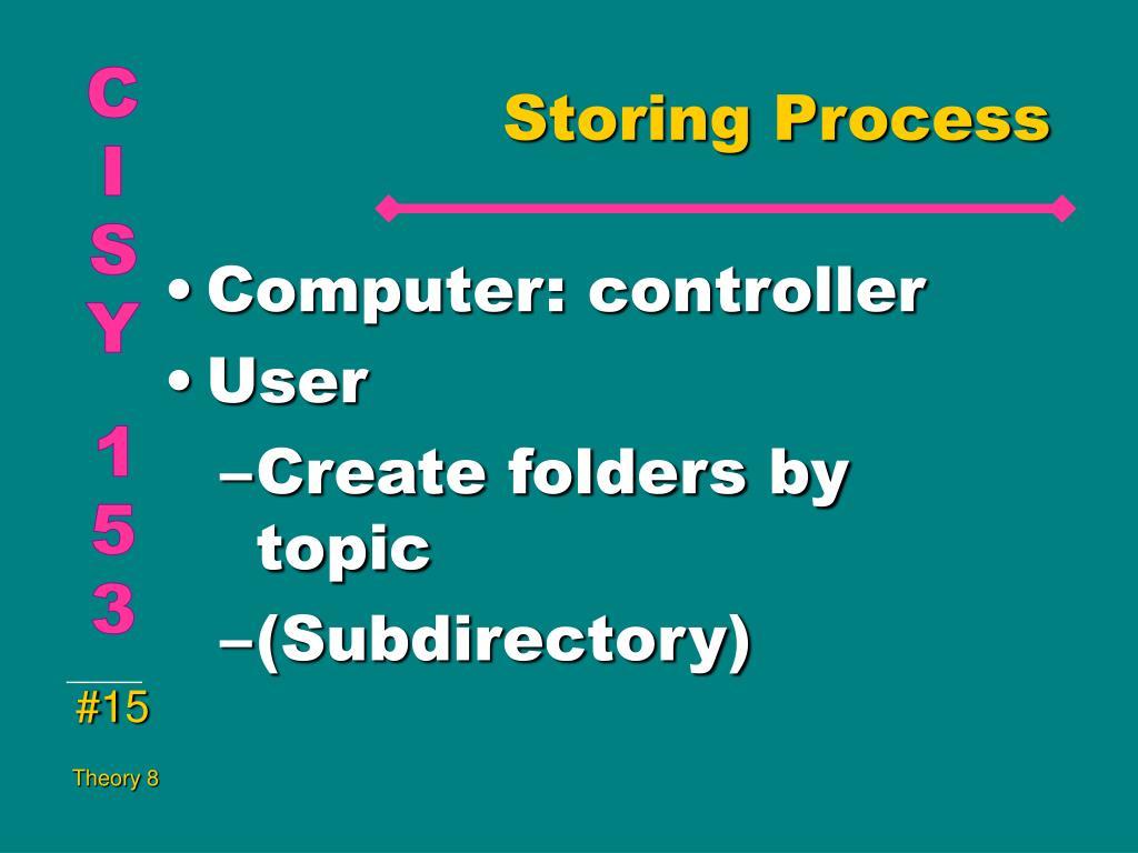 Storing Process