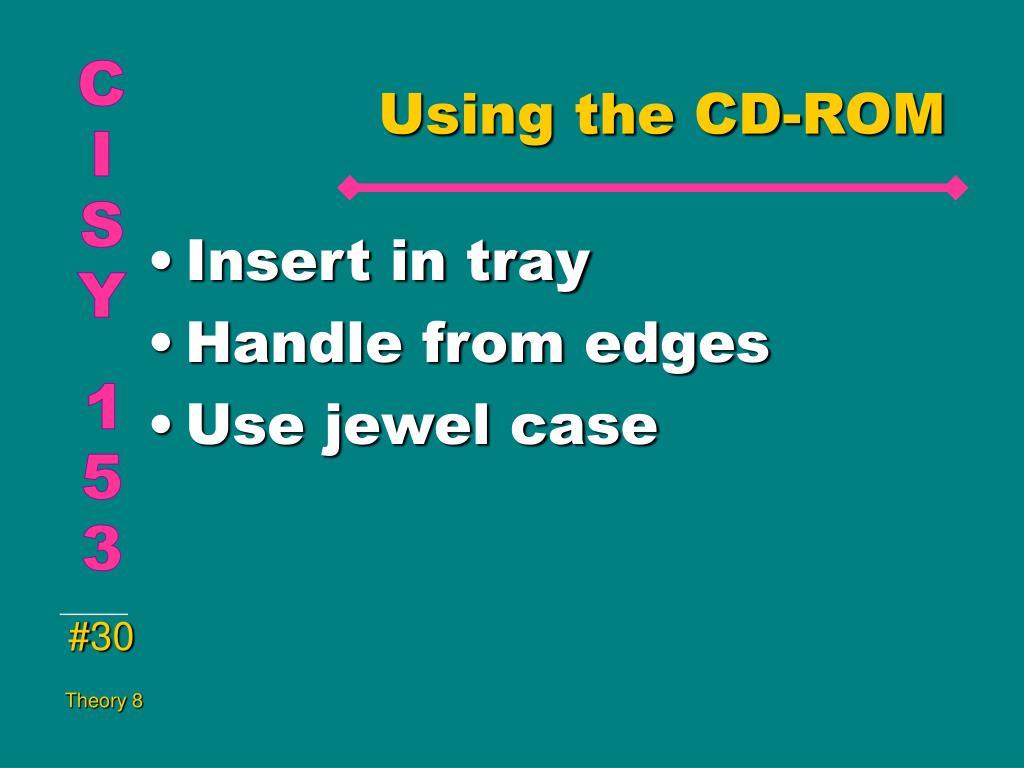 Using the CD-ROM