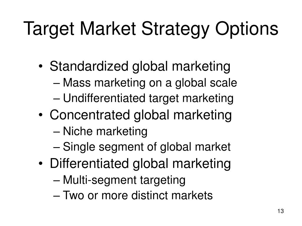 Target Market Strategy Options