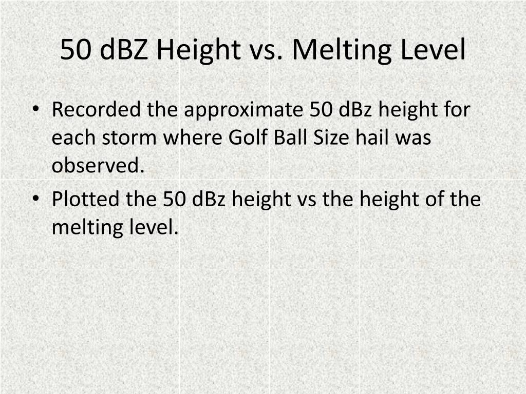50 dBZ Height vs. Melting Level