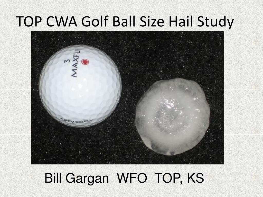 TOP CWA Golf Ball Size Hail Study