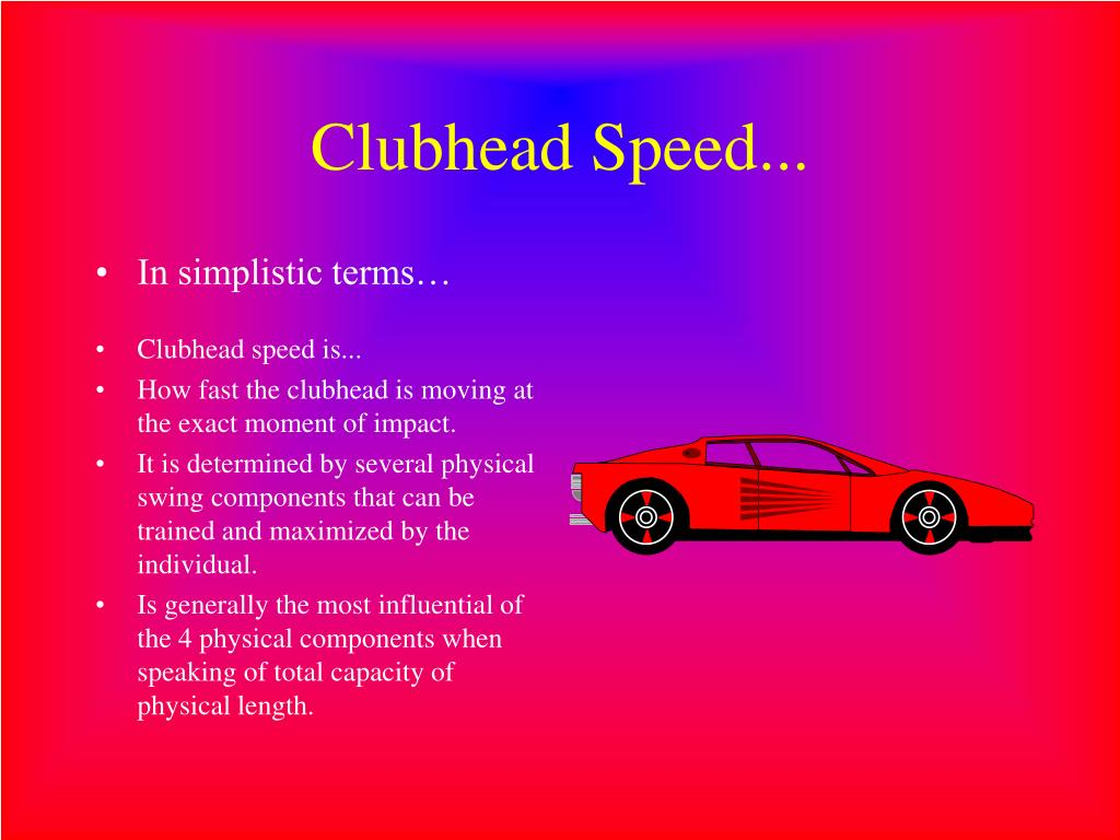 Clubhead Speed...