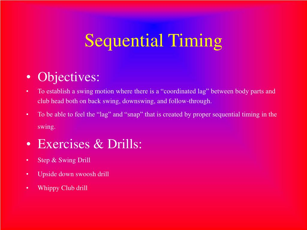 Sequential Timing