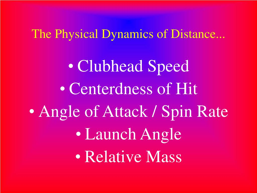 The Physical Dynamics of Distance...